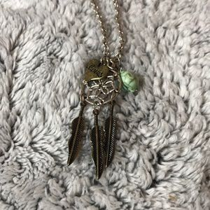 Jewelry - Silver necklace with dream catcher